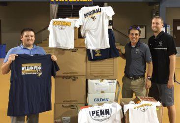 t-shirt shipment to the hurricane Harvey victims
