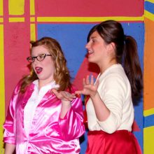"WPU Fine Arts Students during ""Grease"" performance"